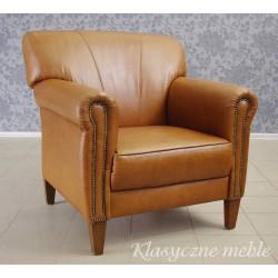 Fotel klubowy skóra naturalna. 5639