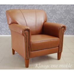 Fotel klubowy skóra naturalna. 5640