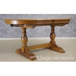 Stół dębowy, owalny, rozkładany do 340 cm długości. 5650