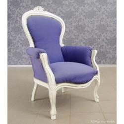 Fotel stylizowany, biały. 5706