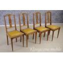Stół secesyjny i 4 krzesła komplet. 5716