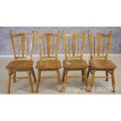 Krzesła drewniane, dębowe. 5846