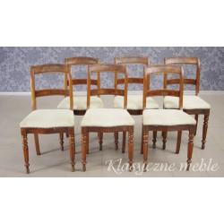 Krzesła Biedermeier XIX w. Antyki Nysa. 5859