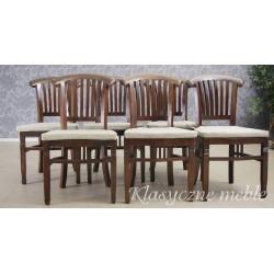 Krzesła kolonialne drewno egzotyczne komplet. 5862