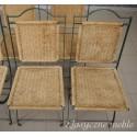 Krzesła metalowe ogrodowe tarasowe komplet 6 szt. 5885
