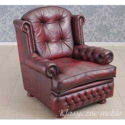 Fotel angielski SPRINGVALE skóra naturalna. 5918