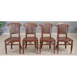 Krzesła kolonialne, drewno egzotyczne. 5925