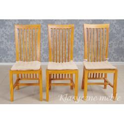 Krzesło kolonialne, drewno egzotyczne. 5936