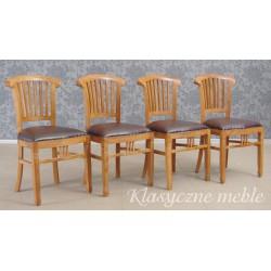 Krzesła kolonialne drewno egzotyczne kpl. 4 szt. 5955