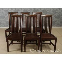 Krzesła kolonialne drewno egzotyczne 6 szt. 5899