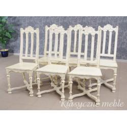 Krzesła stylizowane komplet 6 szt. 5969