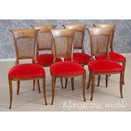 Krzesła stylizowane komplet 6 szt. 5970