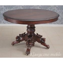 Stół neorenesansowy bocian XIX w. PO RENOWACJI. Antyki Nysa 5978