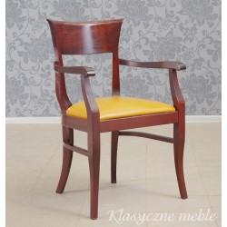 Fotel do biurka Krzesło skóra naturalna. 5980