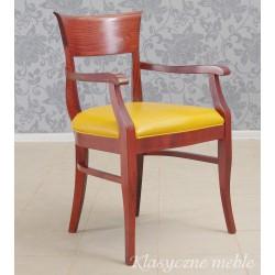 Fotel do biurka Krzesło skóra naturalna. 5981