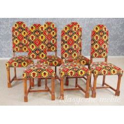 Krzesła dębowe tapicerowane komplet 6 szt. 5558