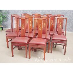 Krzesła orientalne, drewno egzotyczne 5775