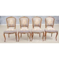 Krzesła w neobarokowym stylu 4 szt.