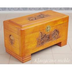 Skrzynia orientalna drewno egzotyczne 6142
