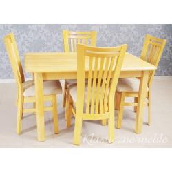 Stół dębowy i 4 krzesła komplet 6259