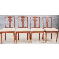 Krzesła stylizowane 4 szt. 6256