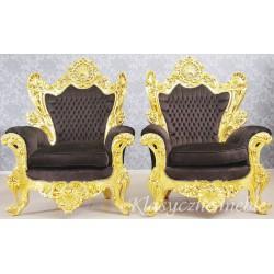 Fotel glamour duży neobarokowy 6266