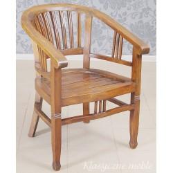 Fotel - krzesło drewno egzotyczne 6268