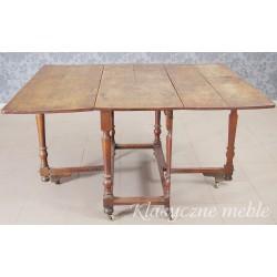 Stół klapiak.  Antyk 6274