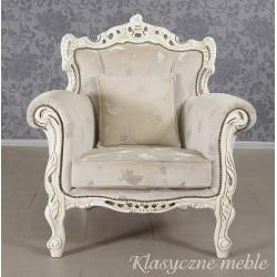 Fotel neobarokowy stylizowany glamour vintage.