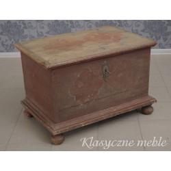 Skrzynia posagowa - Kufer z XIX w. Antyk