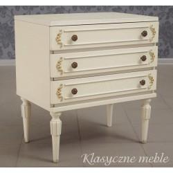 Szafka nocna stolik biały. Komoda używana Nysa