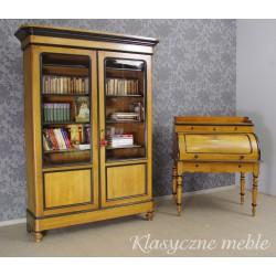 Antyczna biblioteka z II poł. XIX w. przeszklona szafa