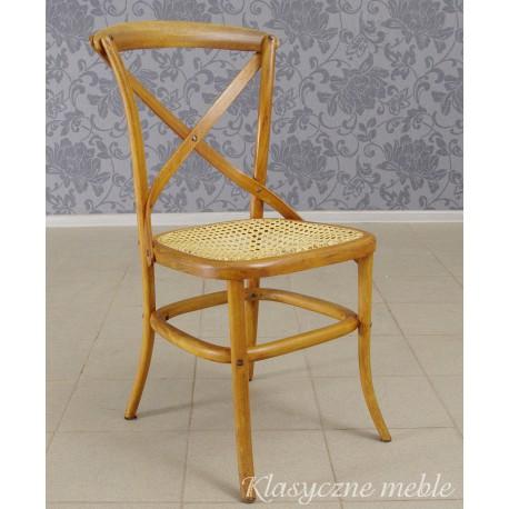 Krzesło kolonialne z giętego drewna. Meble Nysa