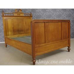 Łóżko eklektyczne drewniane, dębowe Łoże