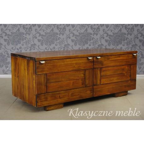 Szafka pod telewizor komoda z drewna egzotycznego