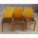 Komplet salonowy stół i krzesła nowoczesny design
