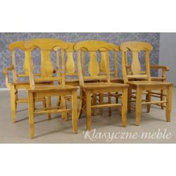 Komplet drewnianych krzeseł 7 szt. Nysa