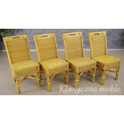 Krzesła ogrodowe z technorattanu komplet 4 szt. 5259