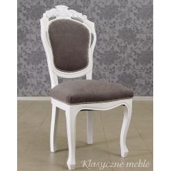 Krzesło stylizowane, odnowione, białe Glamour 5283