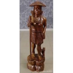 Figura Rzeźba drewno egzotyczne