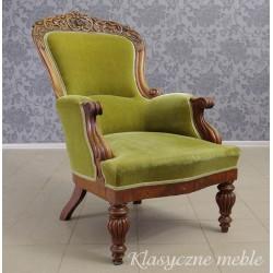Stary, antyczny fotel. Antyki Nysa.