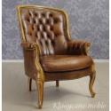 Fotel stylizowany Chesterfield skóra naturalna