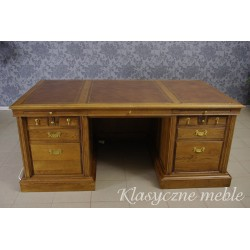 Biurko z drewna dębowego duże dwustronne