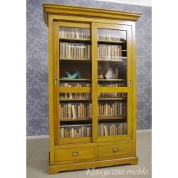 Biblioteka Witryna Serwantka drewno olchowe. Meble kolonialne Nysa.
