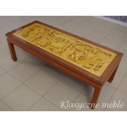 Ława orientalna ręcznie rzeźbiona. 5390