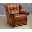 Fotel uszak skóra naturalna. 5399