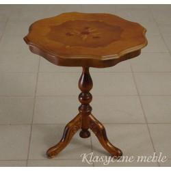Stolik drewniany intarsjowany Neobarok 5407