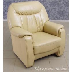 Fotel ze skóry naturalnej. Meble używane Nysa 5449