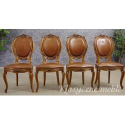 Krzesła włoskie, salonowe, stylizowane na wzór mebli z okresu Baroku. 5497