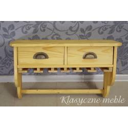 Drewniana półka kuchenna z szufladami. 5516